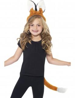 Niedliches Fuchs Kostüm-Set für Kinder 2-teilig rotbraun-weiss-schwarz