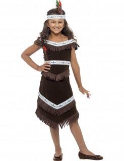 Indianerin Squaw Kinderkostüm Western braun