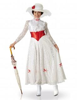 Kostüm Mary Poppins für Damen in Weiß