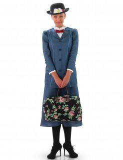 Mary-Poppins-Kostüm für Erwachsene in Blau