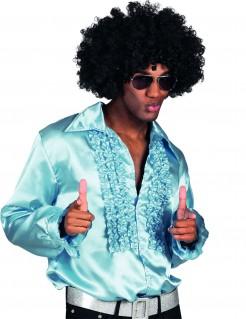 Satinhemd für Männer blau