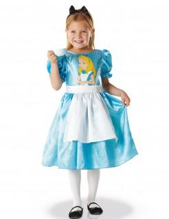 Mädchenkostüm - Alice im Wunderland - hellblau