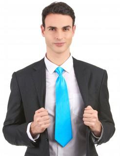 Knallige Krawatte Kostüm-Zubehör blau