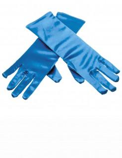 Glänzende Handschuhe für Kinder blau