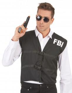 FBI-Weste für Erwachsene schwarz