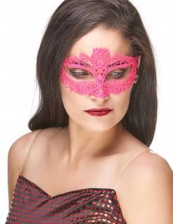 Venezianische Augenmaske Spitze Damen pink