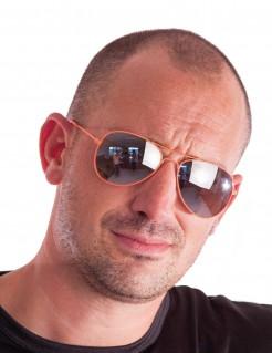 Stylishe Piloten Sonnenbrille für Erwachsene orange