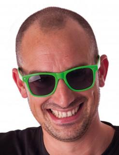 Neonbrille grün