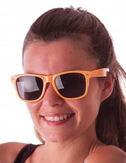 Partybrille für Erwachsene orange-schwarz