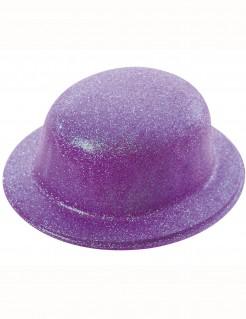 Glitzer Melone Hut für Erwachsene lila