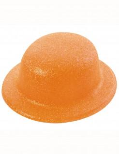 Glitzer Melone Hut für Erwachsene orange