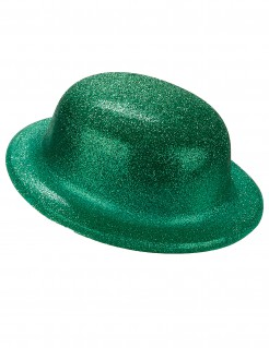 Glitzer-Hut Melone für Erwachsene St. Patrick