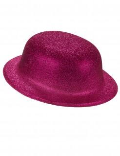 Glitzernder Partyhut Melone pink