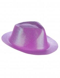 Western Glitzer Hut für Erwachsene violett