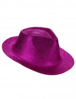 Edler Cowboyhut mit Glitzer pink