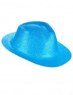 Western Glitzer Hut für Erwachsene blau