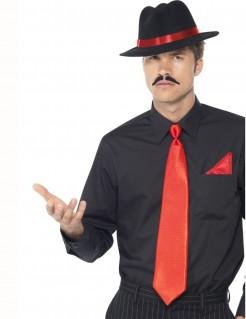 Mafioso Gangster Set 3-teilig rot-schwarz