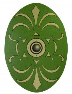 Römer Schutzschild Mittelalter aus Holz grün 35 x 49cm