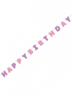 Geburtstagsgirlande Happy Birthday rosa-lila 2,74m