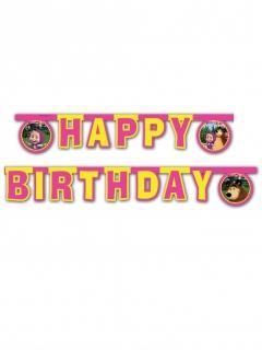 Lizenzartikel Mascha und der Bär Girlande Schriftzug Happy Birthday bunt 2m