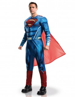 DC Comics Superman Dawn of Justice Kostüm Lizenzware blau-rot