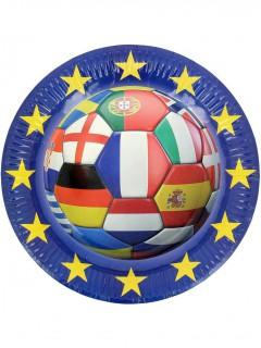 Fußball Pappteller verschiedene Nationen 6 Stück bunt