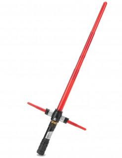Leuchtendes Kreuz-Laserschwert mit Soundeffekten rot-schwarz-grau 81cm