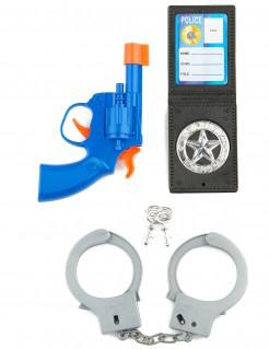 Polizei-Set für Kinder 3-teilig bunt