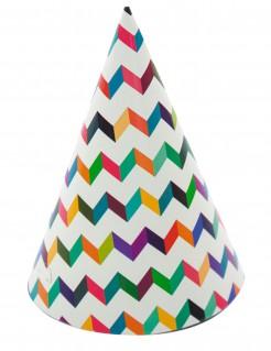 Farbenfrohe Partyhüte 6 stück bunt