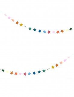 Sternenkette Girlande bunt 3m