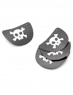 Piraten Augenklappen 4 Stück aus Pappe schwarz-weiss