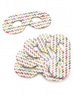 Party Augenmasken 6 Stück bunt
