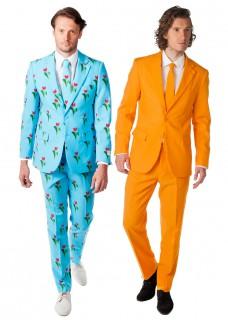 Opposuits™ Niederlande-Fans Paarkostüm für Herren blau-orange