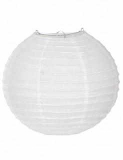 Japanischer Lampion aus Seidenpapier weiß 25 cm