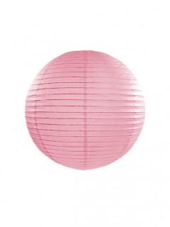 Runder Lampion Party-Accessoire rosa 25cm