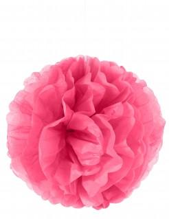 Pompom-Hängedeko Dekoball pink 25cm