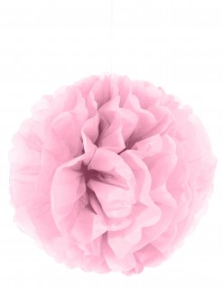 Pompom-Hängedeko Dekoball rosa 35cm