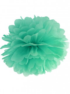 Pompom-Hängedeko 35cm mintgrün