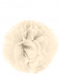 Pompom-Hängedeko Dekoball beige 35cm