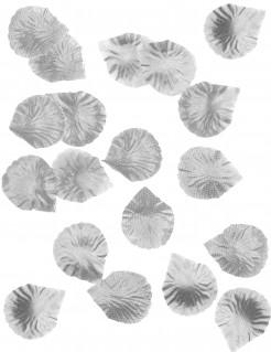Rosenblätter aus Stoff Dekoration 100 Stück silber