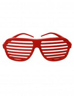 Stylishe Gitter Brille rot