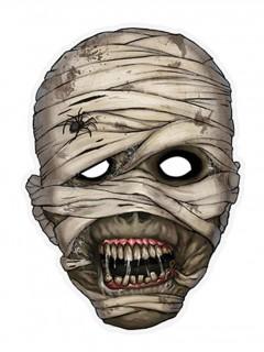 Mumie Pappmaske Halloween beige