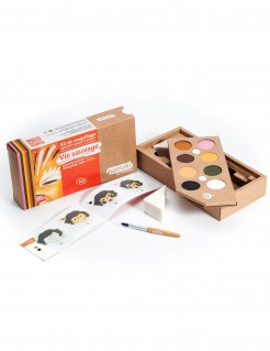 Schminkset Wilde Tiere Make-up mit Pinsel und Schwamm Namaki Cosmetics 8-farbig bunt
