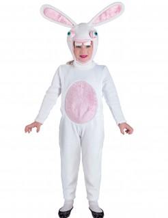 Hasen Kostüm für Kinder Overall weiss-rosa