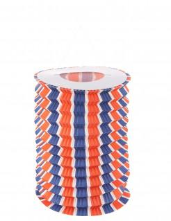 Gemusterte Papier Laterne Dekoration 12 Stück weiss-blau-rot