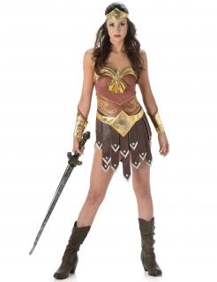 Sexy Gladiatorin Antike Damenkostüm beige-braun