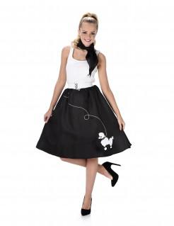 50er Jahre-Damenkostüm Rock n Roll schwarz