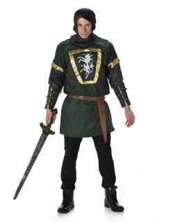 Klassisches Ritter Herrenkostüm grün-gold