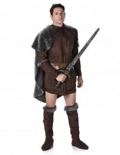 Wikinger Mittelalter Kostüm Mauer-Wächter braun-grau