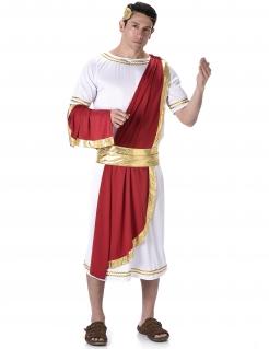 Römischer Kaiser Antike-Kostüm weiss-rot-gold